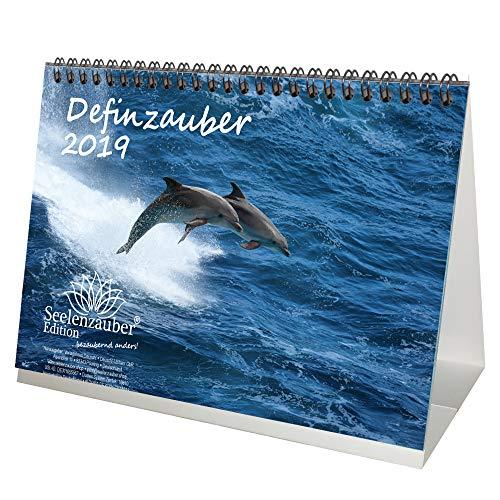 Delphinzauber · DIN A5 · Premium Tischkalender/Kalender 2019 · Tauchen · Delphin · Delfin · Fische · Meer · Geschenk-Set mit 1 Grußkarte und 1 Weihnachtskarte · Edition Seelenzauber