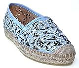 Kanna Espadrilles | Manolito | blau , Farbe:blau;Größe:39
