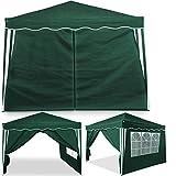 Deuba® 2x Seitenwand Grün für Pavillon Capri 3x3m - Faltpavillon Pop Up |klappbar |platzsparend |verstaubar