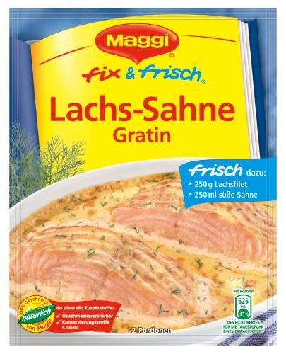 Maggi Fix Lachs-Sahne-Gratin, 19er Pack (19 x 29 g Beutel)