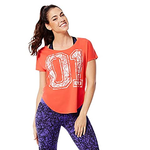 Zumba Fitness WT Team Pride Tulip Top T-shirt pour femme XL Rouge - Rev Me Up Red