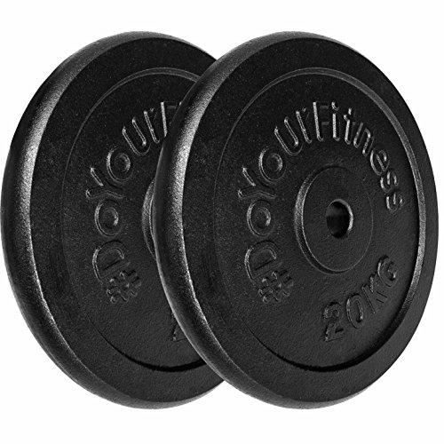 2x Hantelscheiben aus 100{d92497e9c74e1f738487227f212e8a7ff355a8e388ab1ef15dabf8bbcb374987} Gusseisen in 1,25kg 2,5kg 5kg 10kg 15kg o. 20kg - 30/31mm Bohrung : die Gewichte sind ideal für Langhantel, Curlhantelstange, Hantelstange oder Kurzhantel in schwarz / 20kg
