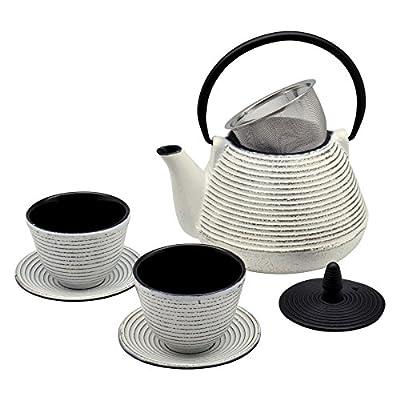 Collection théière de table Japonaises Tetsubin cloutés/ tasses& Sous-tasses 1L (1000ml).
