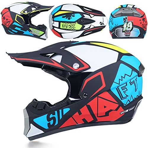 Motorradhelm Motocross Offroad-Helme ATV Dirt Bike Downhill Racing Motocross Fahrrad Schutzhelm für Männer