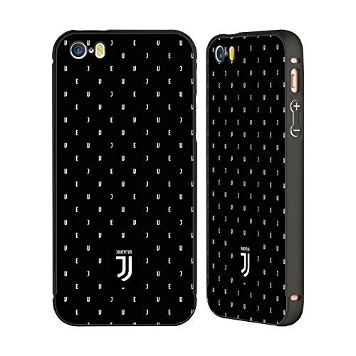 Ufficiale Juventus Football Club Banale Lifestyle 2 Nero Cover Contorno con Bumper in Alluminio per Apple iPhone 6 Plus / 6s Plus Nero Logo Pattern