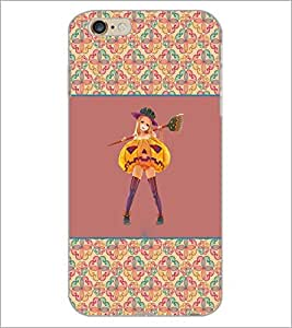 PrintDhaba Girl with Broom D-2603 Back Case Cover for APPLE IPHONE 6 (Multi-Coloured)