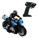 ColorBaby -  Moto radiocontrol Speed&Go, Escala 1:10,Azul (85342)