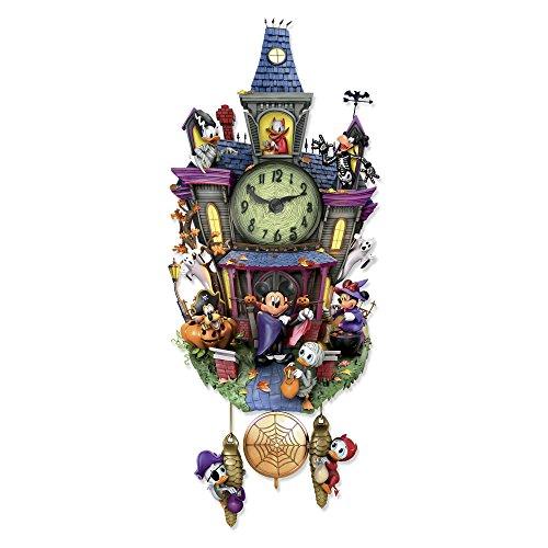 e–Disney 'SPOOKTACULAR Halloween' Wanduhr–mit Melodie & Beleuchtung (Mickey Halloween-film)