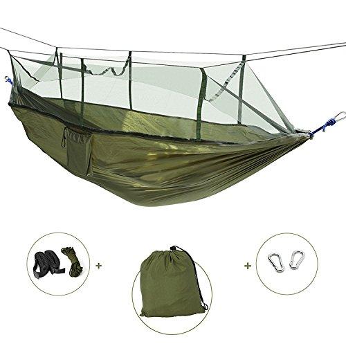 OKE Hamaca Camping Jardin Terraza Acampada Viaje Colgante con Mosquitera para Dormir...