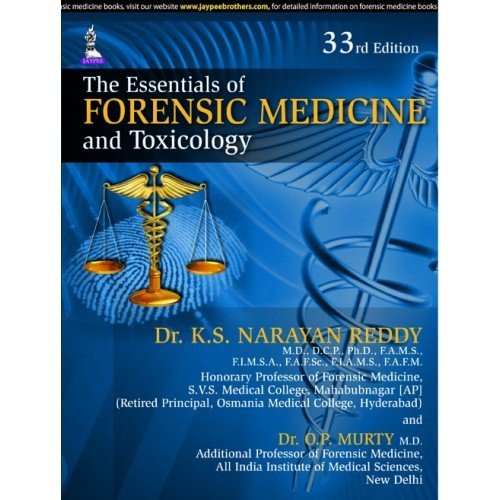 The Essentials Of Forensic Medicine And Toxicology (Old Edition)