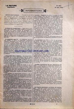 NATURE (LA) [No 2464] du 25/06/1921