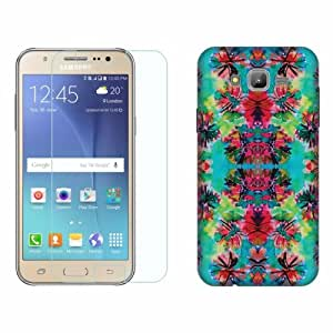 Printland Tempered Glass + Back Cover Combo For Samsung Galaxy J7