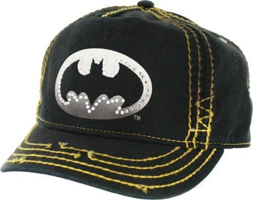 Bioworld Batman Bling Logo Juniors Einstellbare Baseball (Batman Baseball Kostüm)