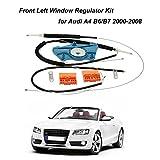 KKmoon Cavo Rullo Corredo di Regolatore di Riparazione per Finestra Anteriore Sinistro per Audi A4 B6/B7 2000-2008
