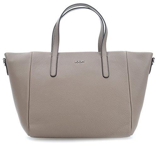 JOOP! Damen-Henkeltasche Helena | Leder-Handtasche mit Reißverschluss | Shopper mud