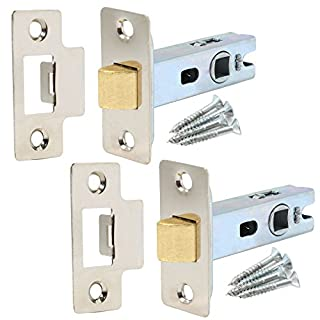 2x Nickel Internal Door Latches - 64mm 2½
