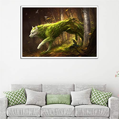 adgkitb canvas 50x70cm KEIN Rahmen Fantasie Tier Kreatur Wohnkultur Malerei a1