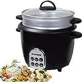 Syntrox Germany Slow Chef RC-700W Gourmet Multikocher Multifunktionskocher Reiskocher Dampfgarer mit Warmhaltefunktion, 1,8 l, 700 Watt