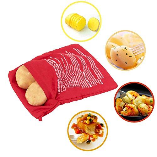Design61 Kartoffel Tasche Kochtasche Kartoffel Express Beutel Potato Bag Mikrowellen Tasche -