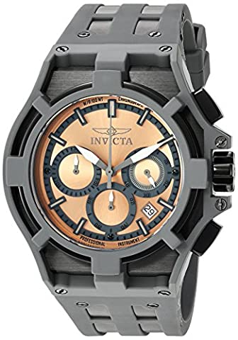 Invicta Men's 'Akula' Quartz Stainless Steel and Silicone Casual Watch, Color:Grey (Model: 22370)