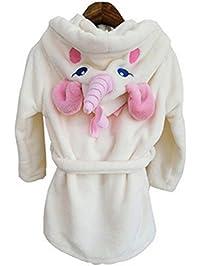 Woneart Niña Albornoz Mujer Camisones Novedad Disfraz de Peluche Unicornio Ropa De Dormir con Capucha Batas