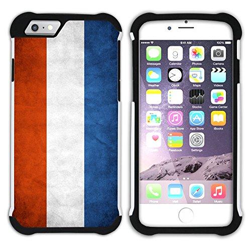 Graphic4You Vintage Uralt Flagge Von Österreich Österreichisch Design Hart + Weiche Kratzfeste Hülle Case Schale Tasche Schutzhülle für Apple iPhone 6 Plus / 6S Plus Niederlande Holländisch