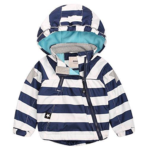 ZOEREA Baby Kinder Jacke Winter Junge Mädchen Wasserdichte Winddicht Mantel Kapuzenjacken für Herbst Winter Körpergröße 85-140cm