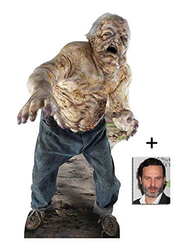The Walking Dead Well Walker Zombie Lebensgrosse Pappaufsteller mit 25cm x 20cm - Hollywood-promi-halloween-party