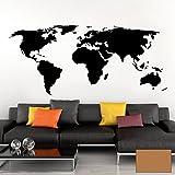Grandora Wandtattoo Weltkarte Erde Globus Karte I Kupfer 200 x 87 cm I Welt Atlas Schlafzimmer Wohnzimmer Wandsticker Wandaufkleber W698