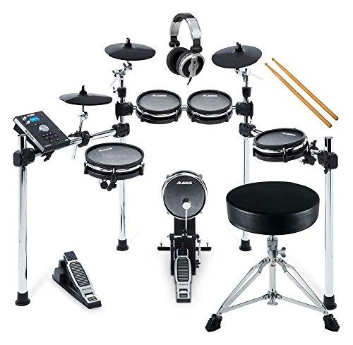 Alesis Command Mesh Kit Set (Flüsterleises E-Drum mit Meshheads, Laden eigener Samples, zwei zusätzliche Trigger-Eingänge, inkl. Hocker und Kopfhörer)