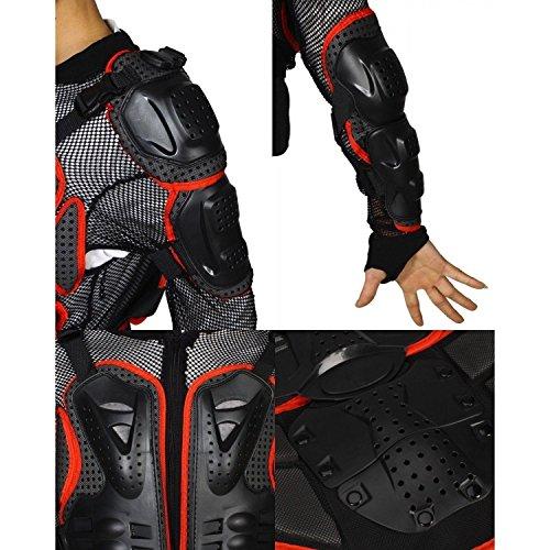 Preisvergleich Produktbild Motorrad Motocross Rennsport ATV UTV im Freien Sport voll Enduro Schutzwesten Wirbelsäule Brustpanzer schutzausrüstung Getriebe off-road Beschützer Jacken rot Größe XXXL fit für KAWASAKI ZX-10R NINJA ZX10R ZX1000 2004 2005 2006 2007