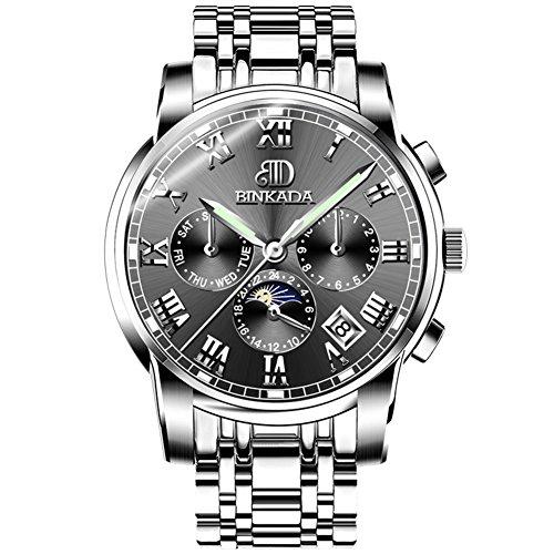 Automatische mechanische Uhren/Höhlen Sie Schwungrad Uhr aus/ wasserdicht Herrenuhr-E