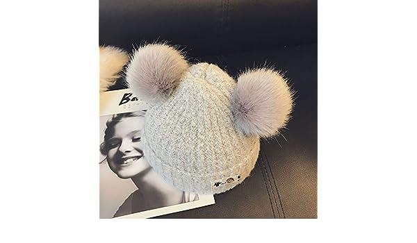 Wanglele La Hat Baby Enfants Hat L Automne Et L Hiver Lignes Épaisses Sur  Le Nourrisson Casquette, Gris Et Blanc De Tête Élastique ,45-53  Amazon.fr   Sports ... f9213478446