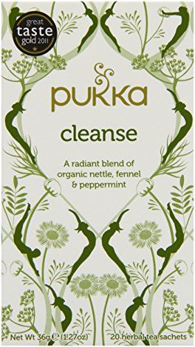 Pukka Organic Cleanse 20 Teabags (Pack of 4, Total 80 Teabags) -