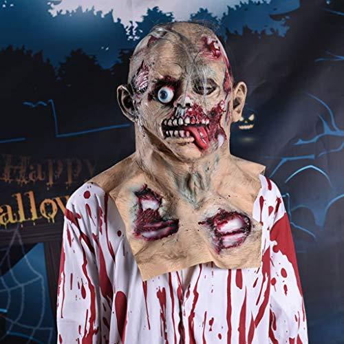 Dkings Halloween Maske, Latex Scary Horrible Melting Face Mask für Cosplay Kostüm Halloween Maskerade (Wirklich Gruselige Halloween Kostüm)
