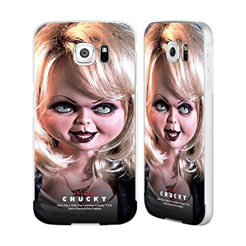 Head Case Designs Offizielle Bride of Chucky Tiffany Puppe Schluessel Kunst Silber Aluminium Bumper Slider Huelle kompatibel mit Samsung Galaxy S6
