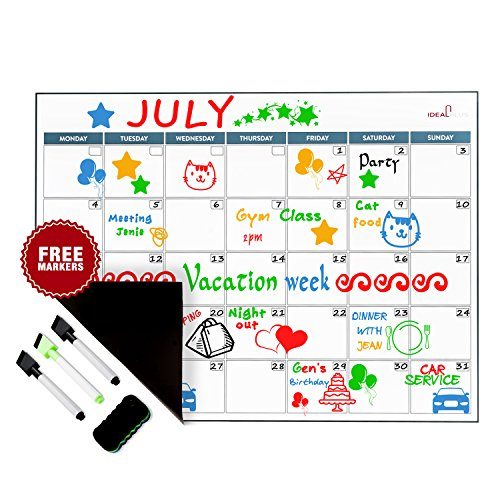 """Magnetic Dry Erase Calendar by Ideal Plus 