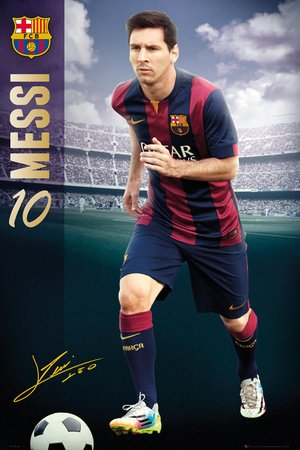 Póster FC Barcelona «Lionel Messi» (61cm x 91,5cm)