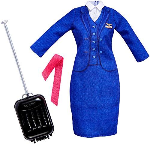 Barbie FKT13 Fashions Berufsoutfit: Stewardess, Puppe