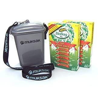 All-Green Muksak Dog Poo/Poop Holder and 100x Compostable Dog Waste Bags by Biobag (Mucksack Mucksac) 51k 2BOmEPYOL