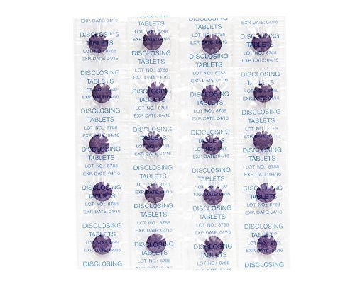 80 x Plaquetest Tabletten ~ Zweifarbig Plaqsearch Kauknochen zeigt Plaque auf die Zähne