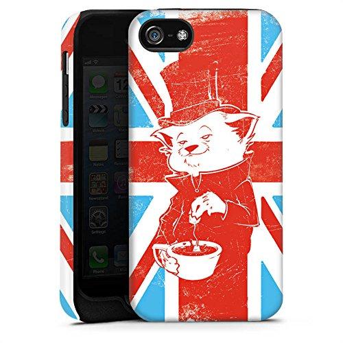 Apple iPhone 4 Housse Étui Silicone Coque Protection Grande-Bretagne UK Chat Cas Tough terne