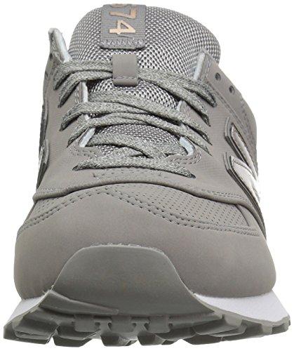 New Balance Womens 574 Varsity Sport Synthetic Trainers Grey