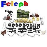 Feleph Military Zubehör Set Waffen Waffen Hund Moderne SWAT Sandsack Körper Rüstung WW2 Bricks Bausteine Set Modell Spielzeug mit Allen großen Marken kompatibel (B)