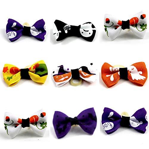 Haustier Hund Haarschleifen Mit Gummibändern Halloween Haustier Hund Katze Haar Bowknot Kostüm Zubehör (zufällig ausgewählt) ()