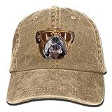 Osmykqe Bulldog with Sunglasses Denim Hat Adjustable Womens Mini Baseball Caps Y0984