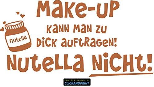 CLICKANDPRINT Aufkleber » Nutella, 60x30,2cm, Haselnussbraun • Wandtattoo / Wandaufkleber / Wandsticker / Wanddeko / Vinyl