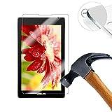 Lusee® Tempered Glass Hartglas Schutzfolie für ASUS ZenPad C 7.0 Z170C 7 Zoll Tablet Premium Screen Folie Protector Ultra Hart Bildschirmschutz 0,3mm Clear 2.5D