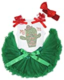 My 1st Cinco De Mayo Kaktus Kleid Weiß Top Grün Baby Rock Outfit Set 3–12M Gr. M, weiß