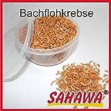 Sahawa Hausmarke Zierfischfutter 400 ml Dosen verschiedene Sorten, Daphnien, Rote Mückenlarven, Bachflohkrebse, Shrimps, getrocknete Fische, Mehlwürmer, Flockenfutter (Bachflohkrebse)
